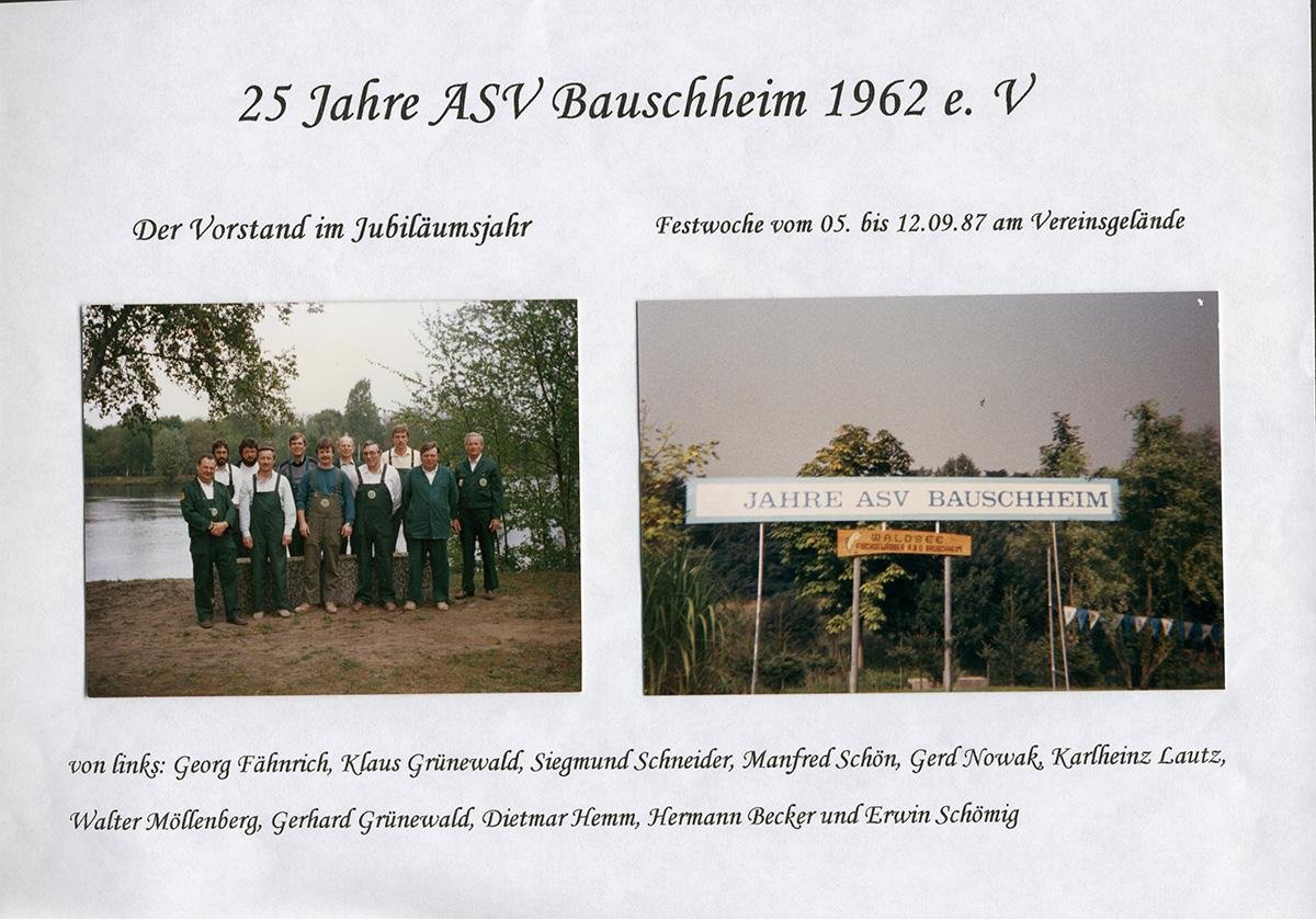 25 Jahre ASV Bauschheim (Vorstand Jubiläumsjahr)
